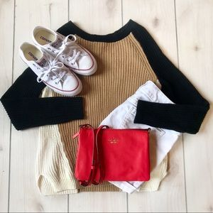 Classic + Cozy Neutral Express Colorblock Sweater